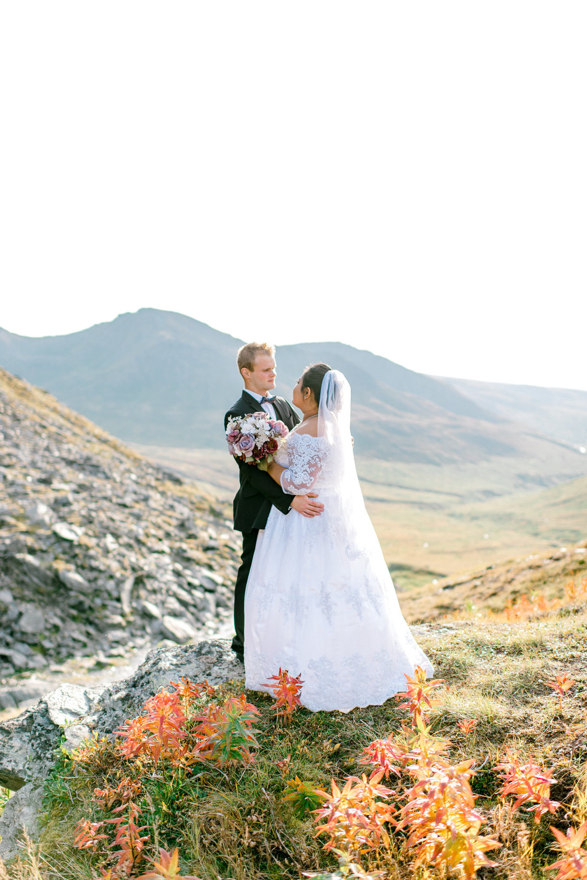 Hatcher Pass fall elopement