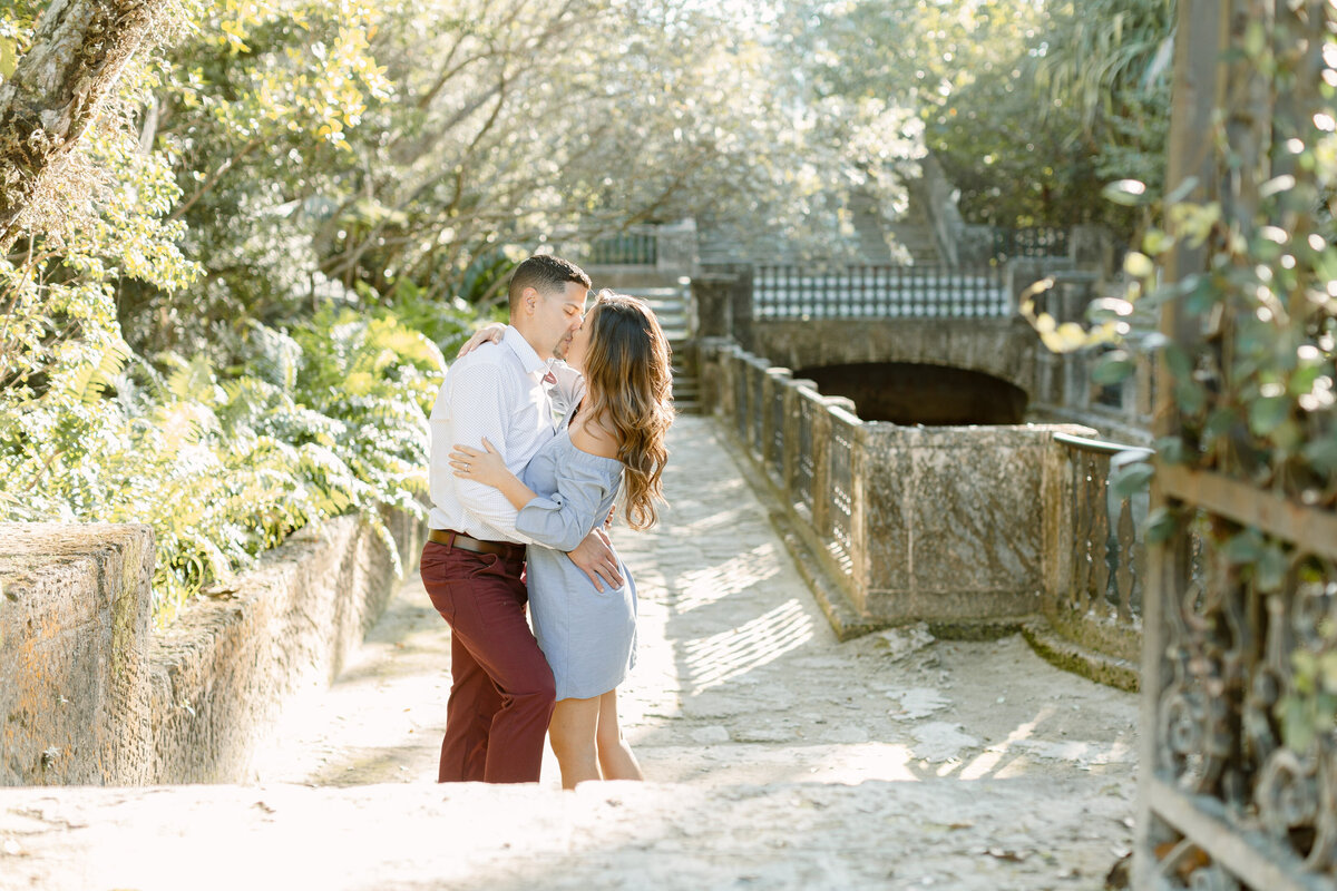 Vizcaya Museum Engagement Photography Session 28