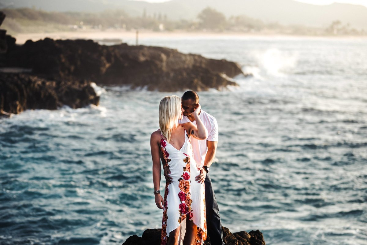 Eternity Beach Honolulu Hawaii Destination Engagement Session - 26