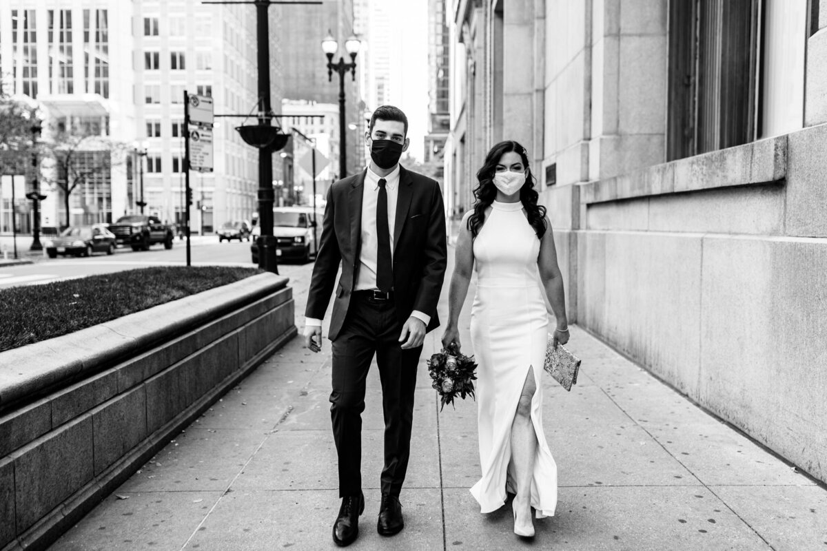 Masked-Wedding-Chicago-Covid-City-Hall