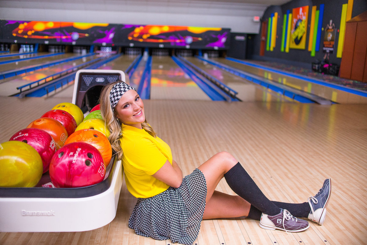 senior Session in Bowling Alley
