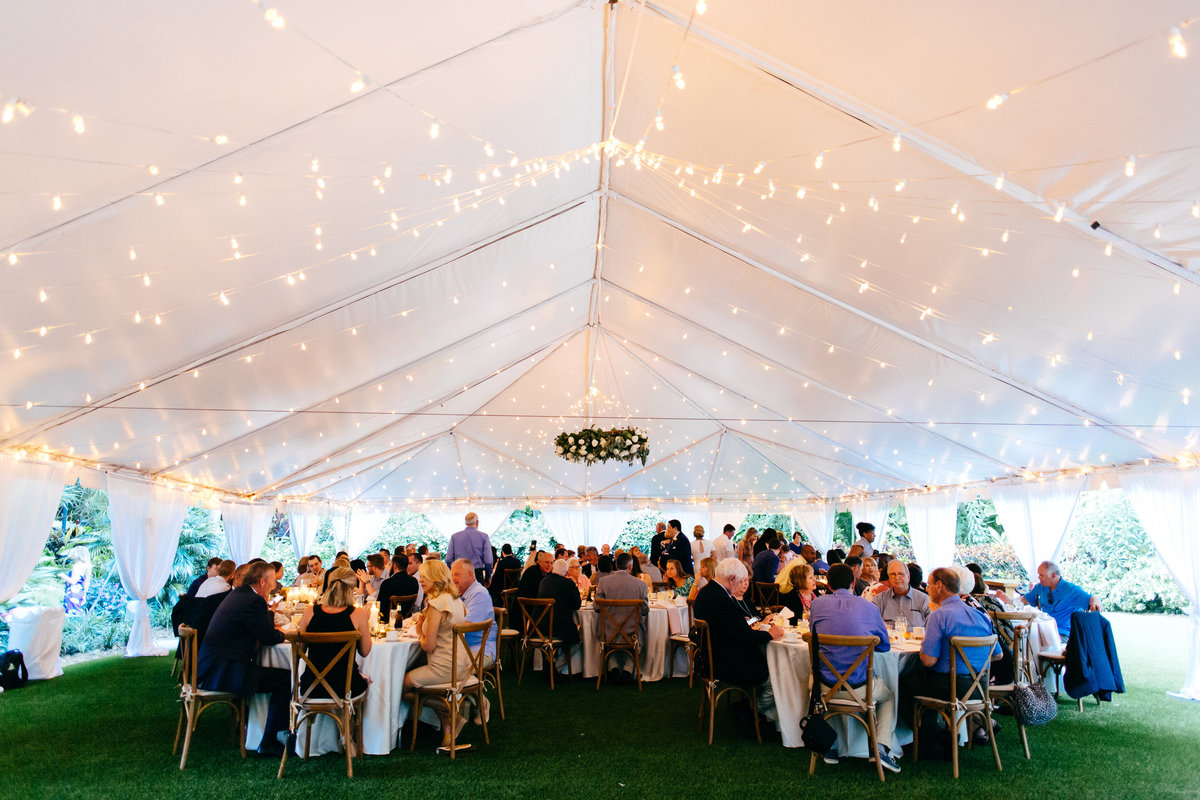 Garden Tent Reception with lights
