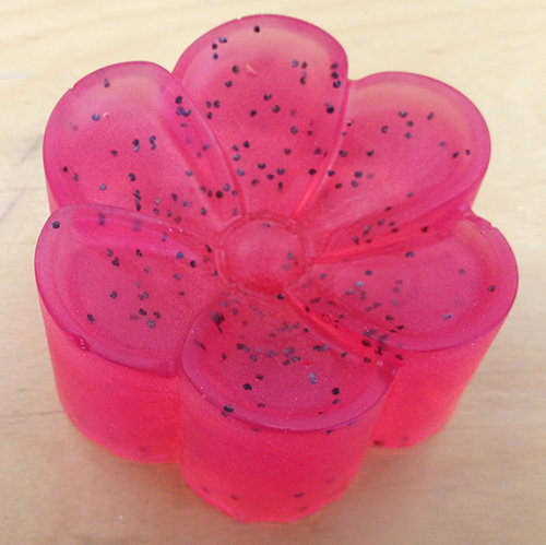 red poppy mp soap flower