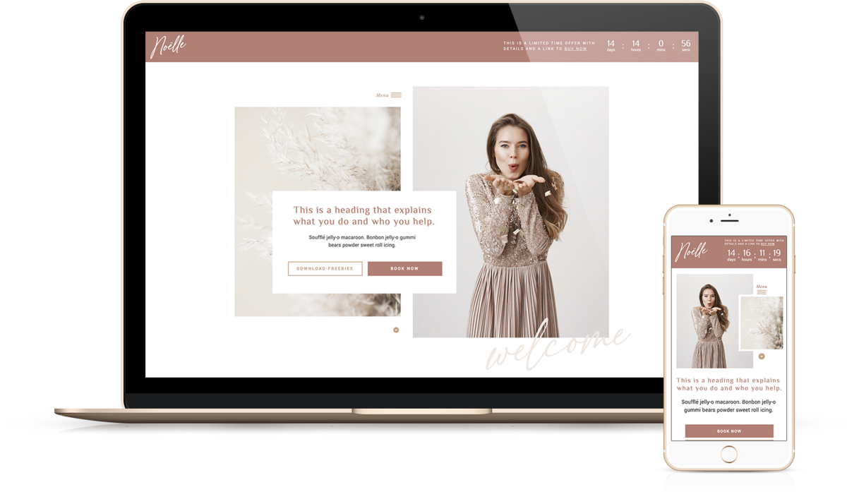 Noëlle | Showit Website Templates | Showit Websites by Viva la Violet