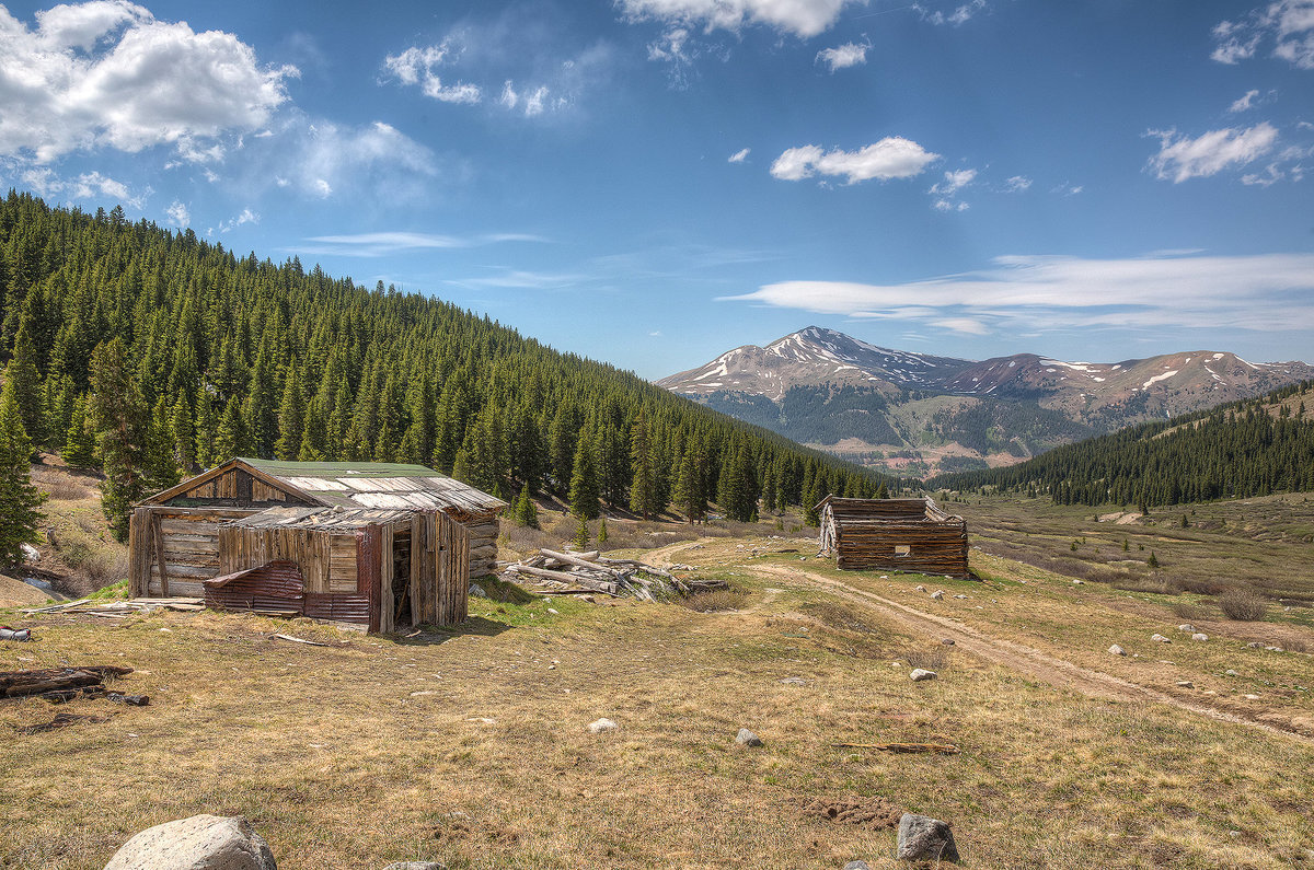 abandoned silver mine in colorado mountains