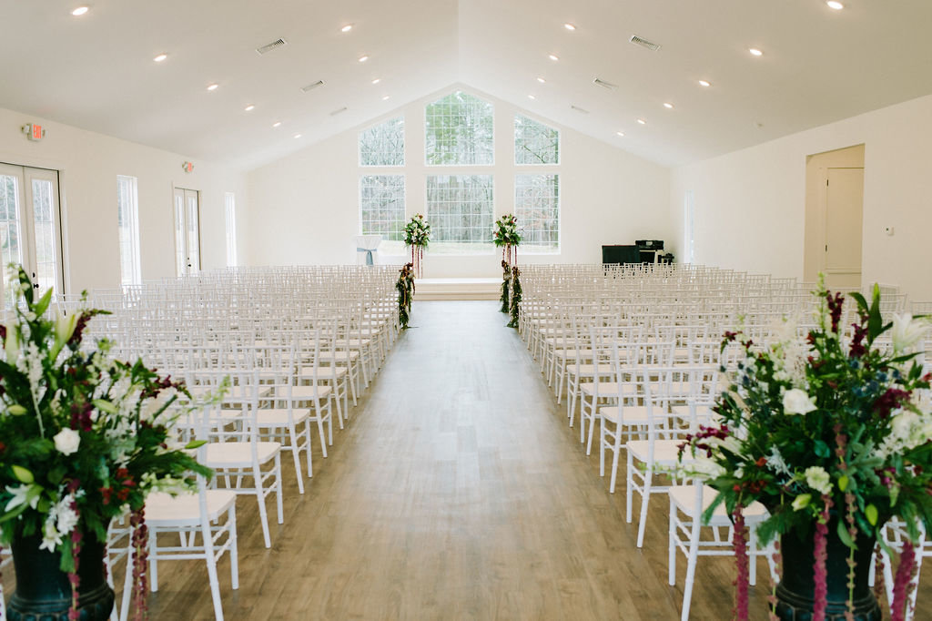 Ceremony Setup at The Grandeur House / Tyler Rosenthal Photography