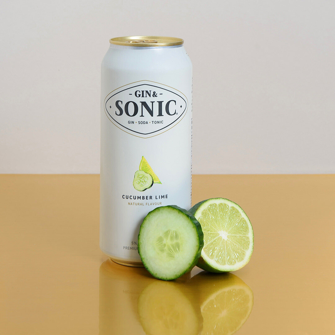 gin and tonic canned beverage