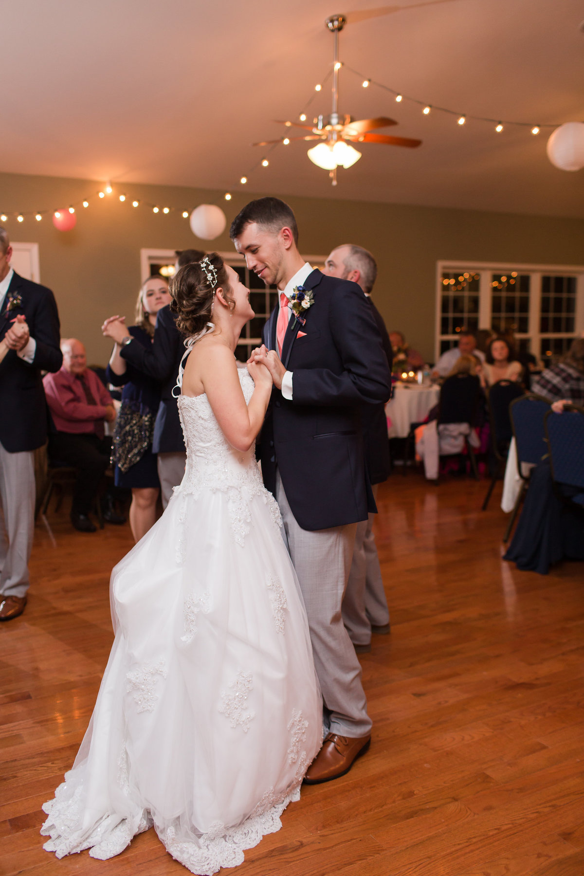 A bride and groom dance at Forest Green Shooting Preserve in Spotsylvania