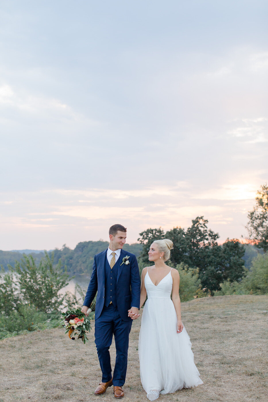 Valerie+Hunter Fall Bohemia Overlook Wedding Sunset-1888