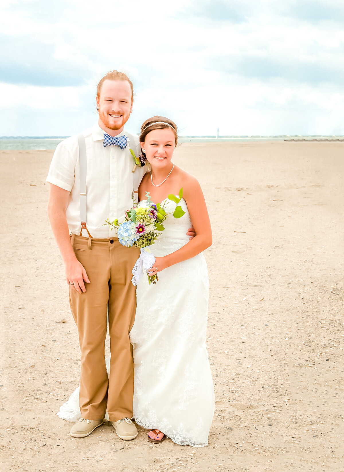 Bald Head Island Wedding Photography - Anna and Ray - Sand Portrait - Wilmington Photographers Team