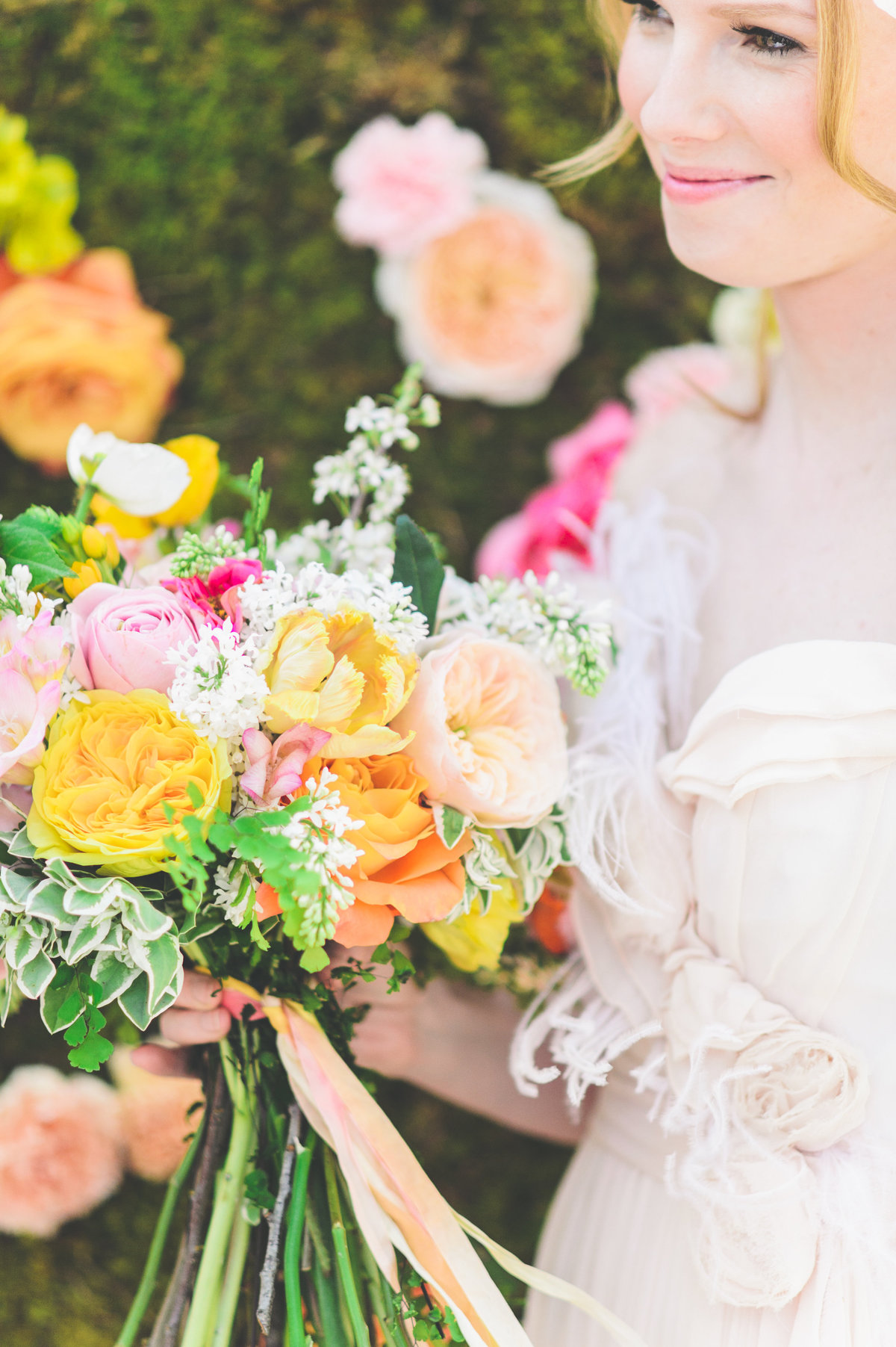 bright colored wedding flowers studio fleurette