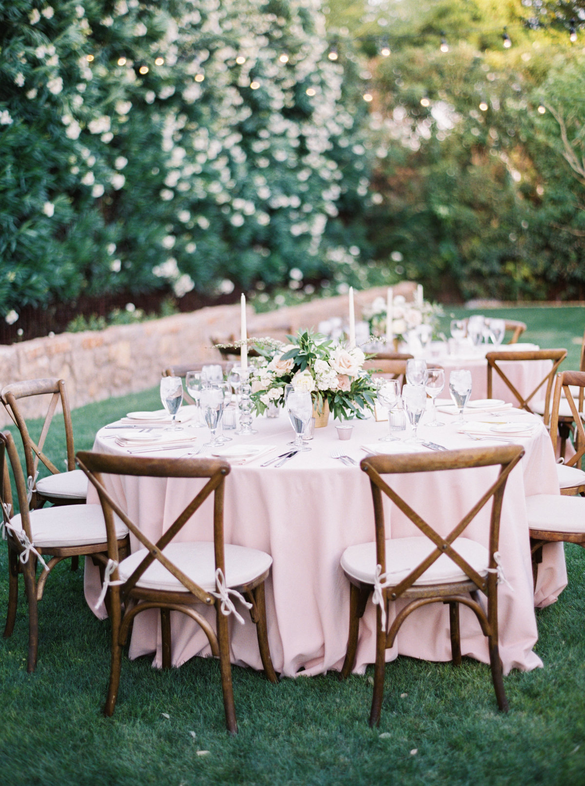 Paradise Valley Wedding Paradise Valley Wedding Planner Mary Claire Photography Arizona Film Photographer Carte Blanch Florals Outdoor Wedding Bistro Lights Garden Wedding Ashley Gain Weddings