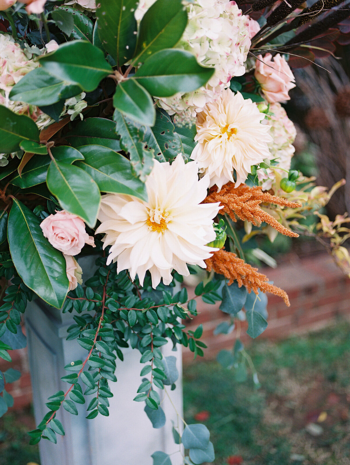 Dahlia Wedding Flowers Fine Art Wedding Photographer Robert Aveau for © Bonnie Sen Photography