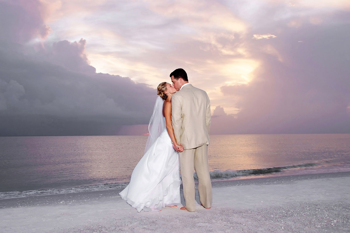 marco beach ocean resort sunset wedding