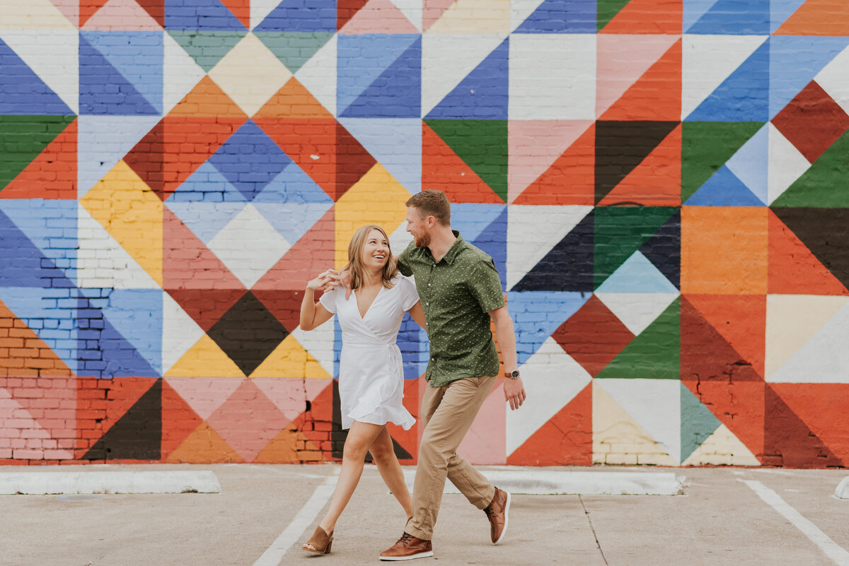Chelsea + Garth engagement at Deep Ellum, Dallas texas -15