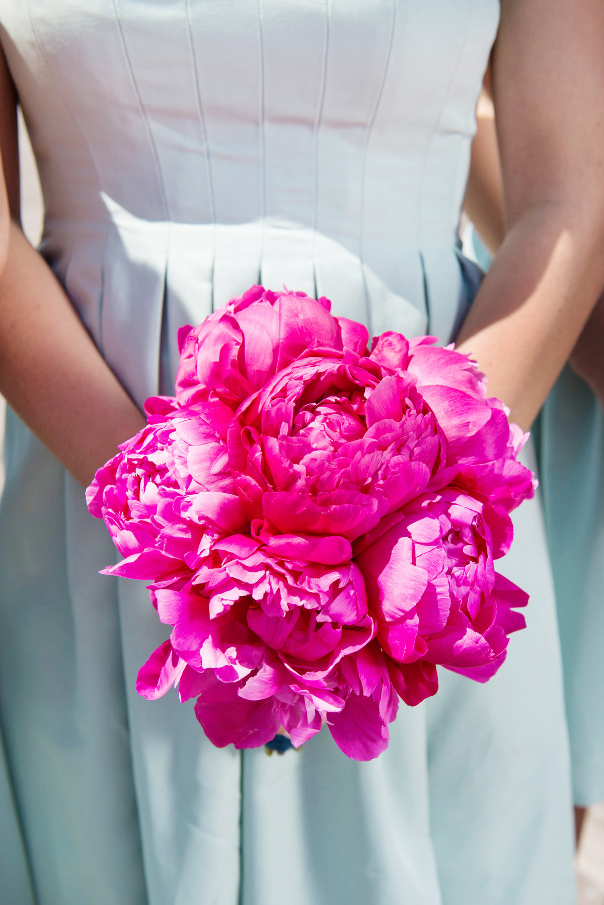 bride holding bouquet from wedding at Pavilion at Sunken Meadow