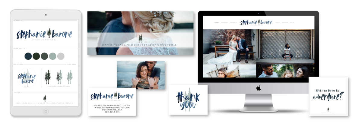 Brand and Showit Website Design for Stephanie Barone Photographer