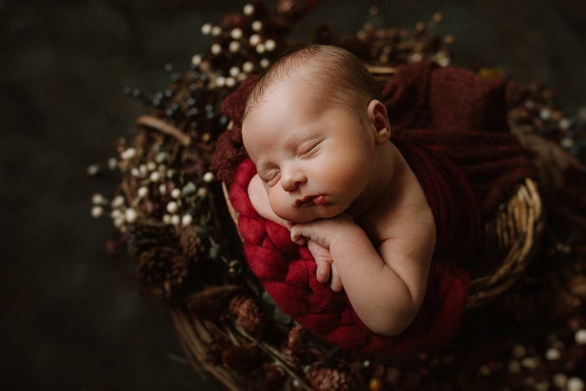 Styled Newborn Oregon Photographer