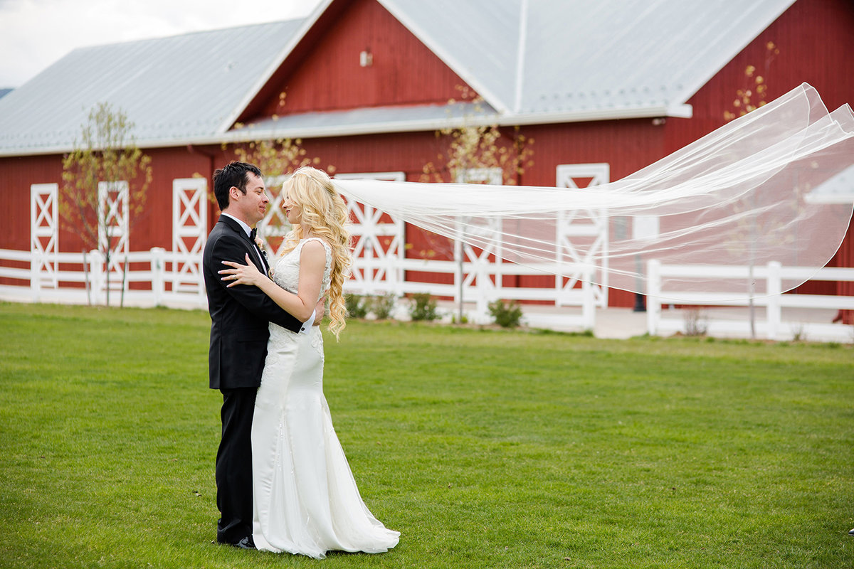 gorgeous long veil wedding photo crooked willow