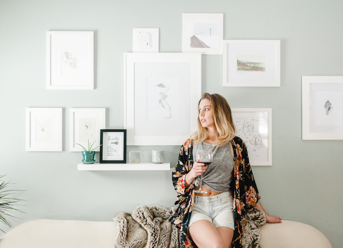 artists portraits for anna canfield art branding photography