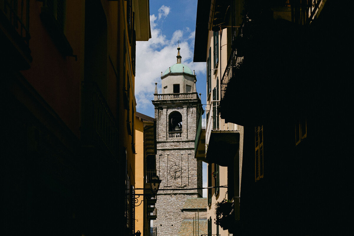 Bellagio Italy Church tower Lake Como