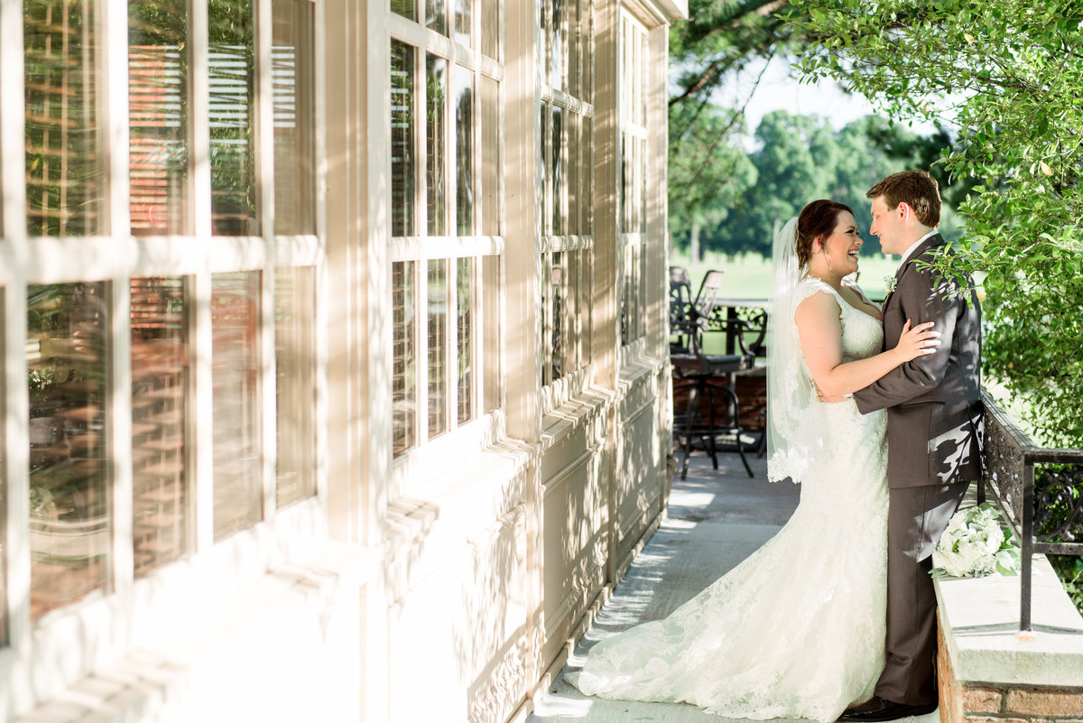 colonial country club wedding photo