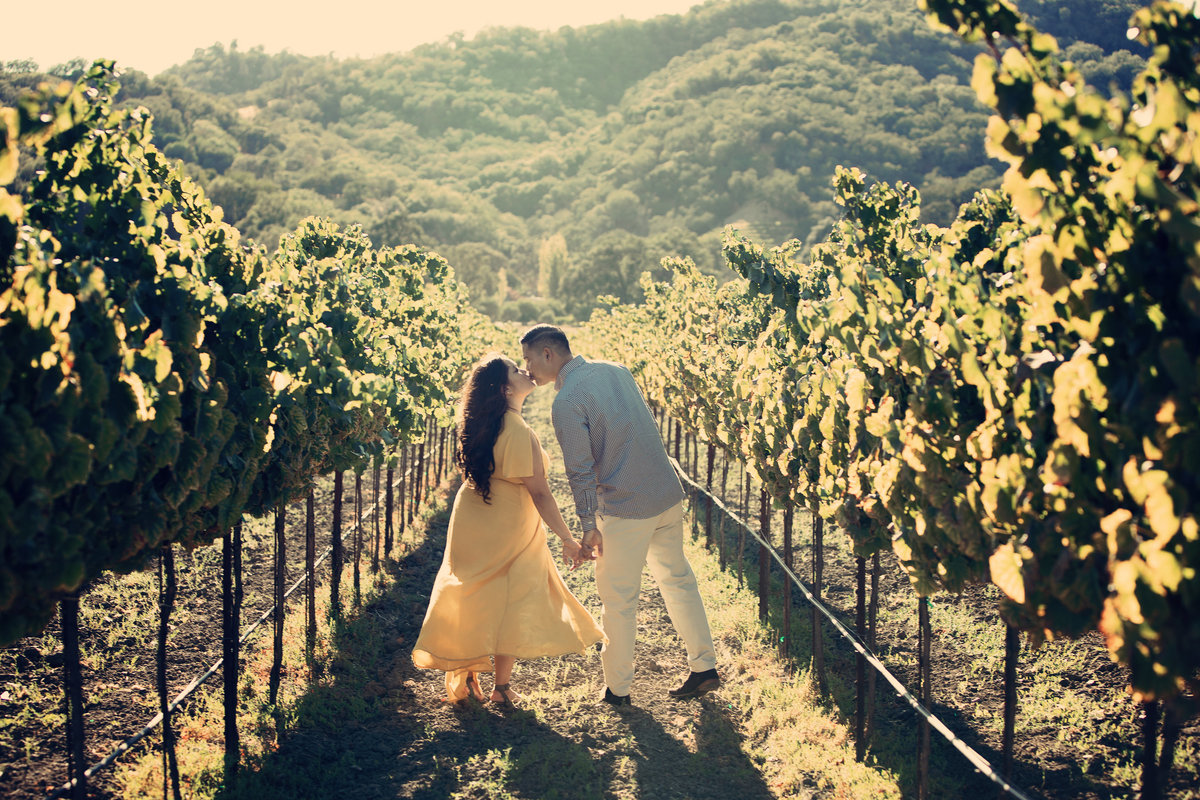 vineyard engagement shoot