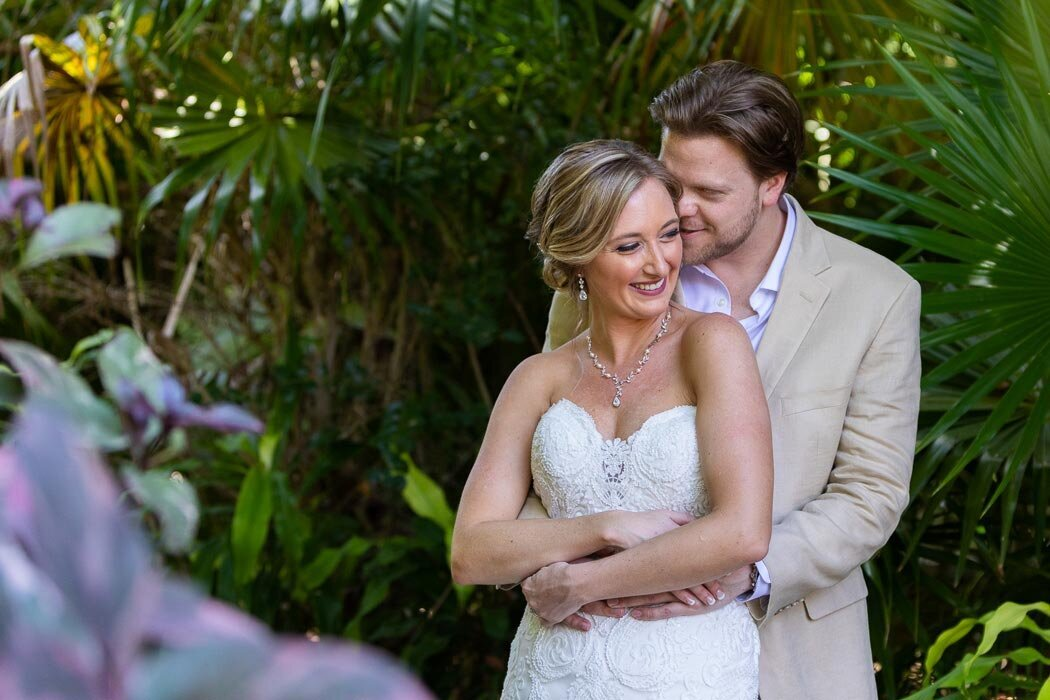 Tropical weddings are our favorite, especially in the dead of winter with these beautiful people.