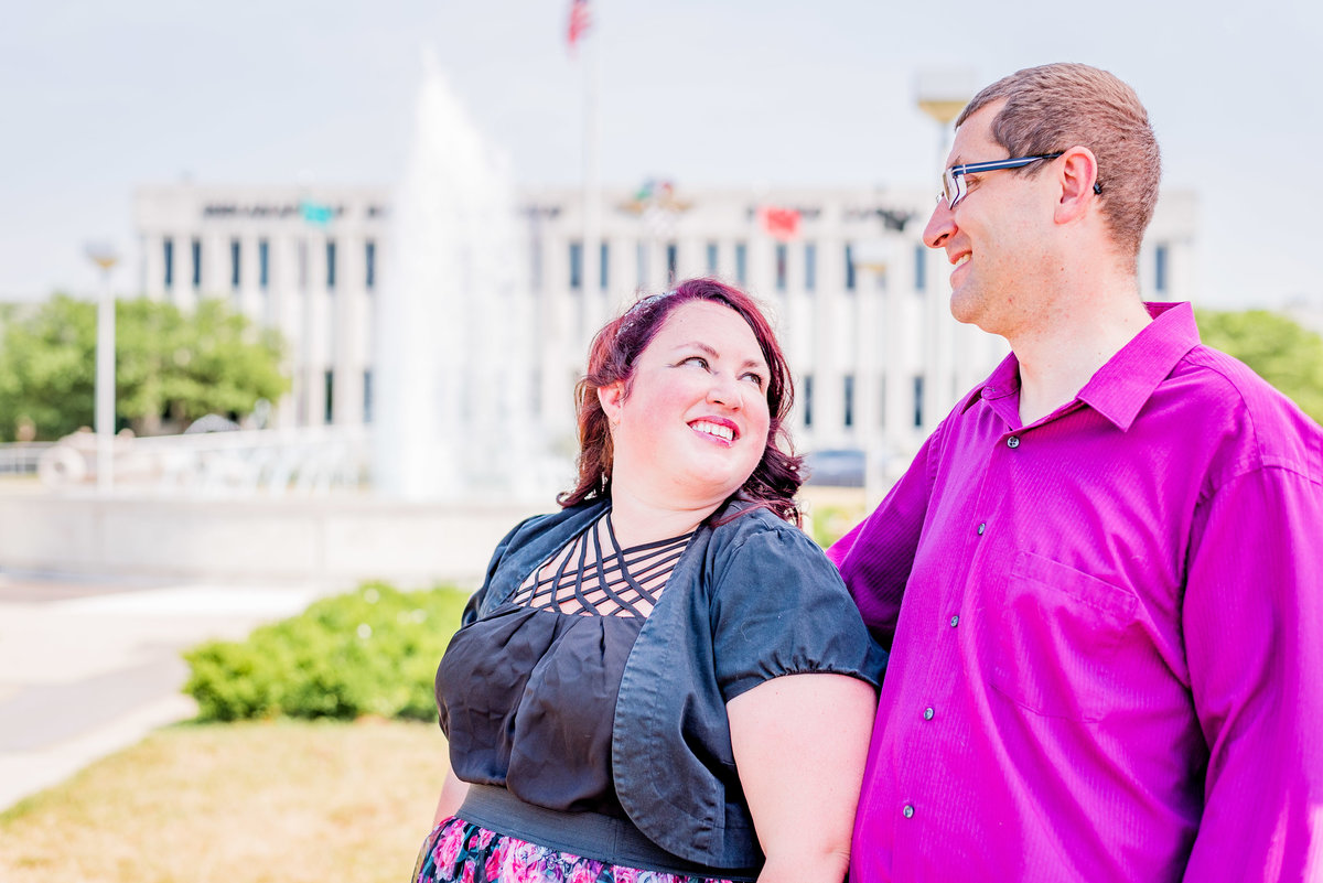 Engagement Photographer Couple Photographer Downtown Indianapolis Photographer-3