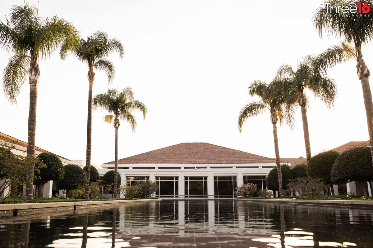 Reflection Pool at the Richard Nixon Library wedding venue in Yorba Linda, CA