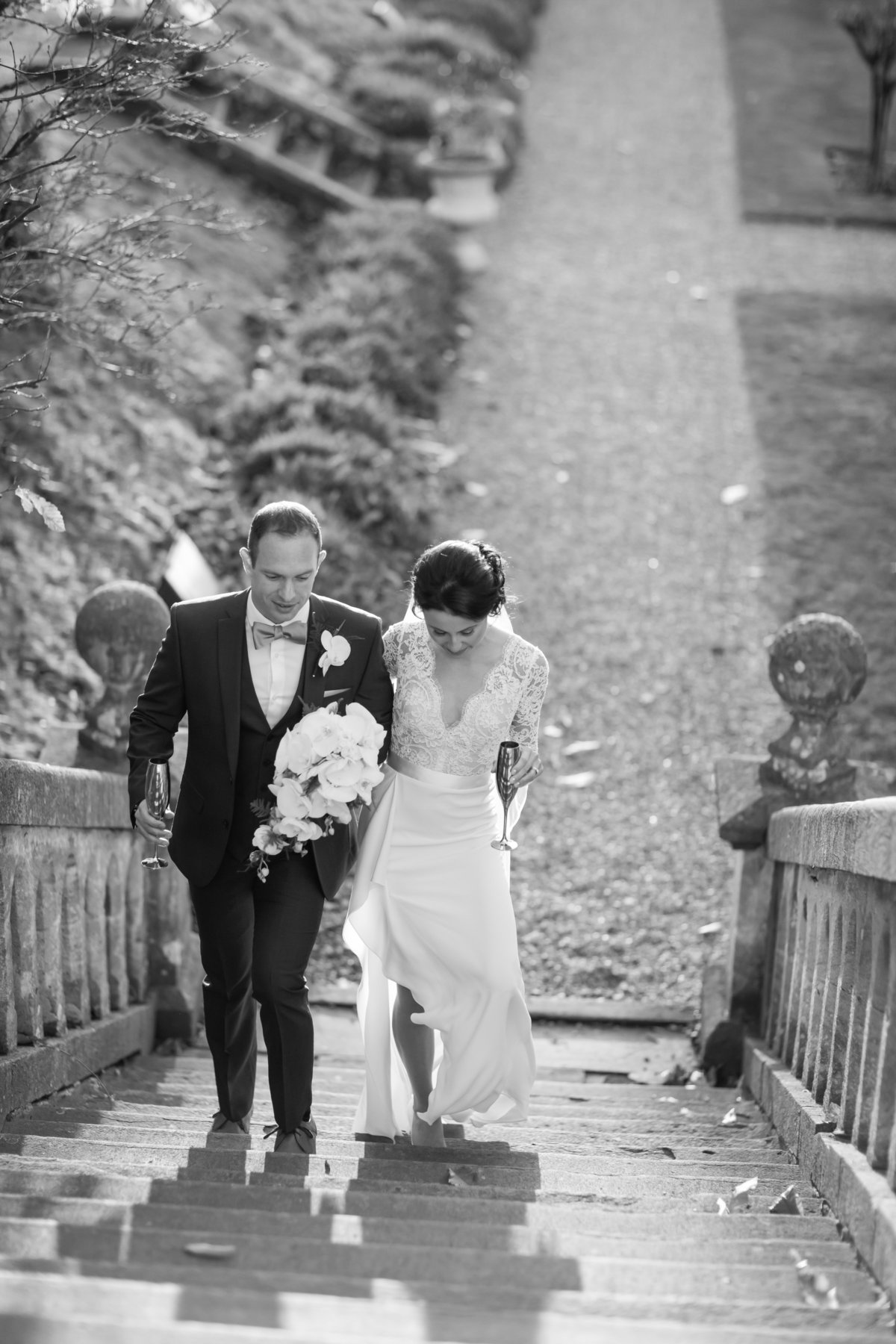 black and white wedding photography in somerset