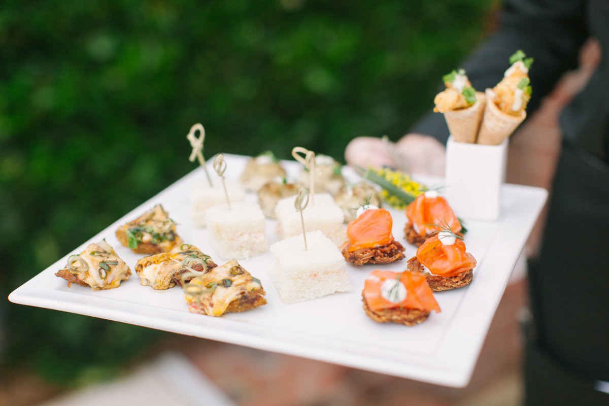 Charleston Wedding Cocktail Hour Passed hors d'oeuvres Cru Catering