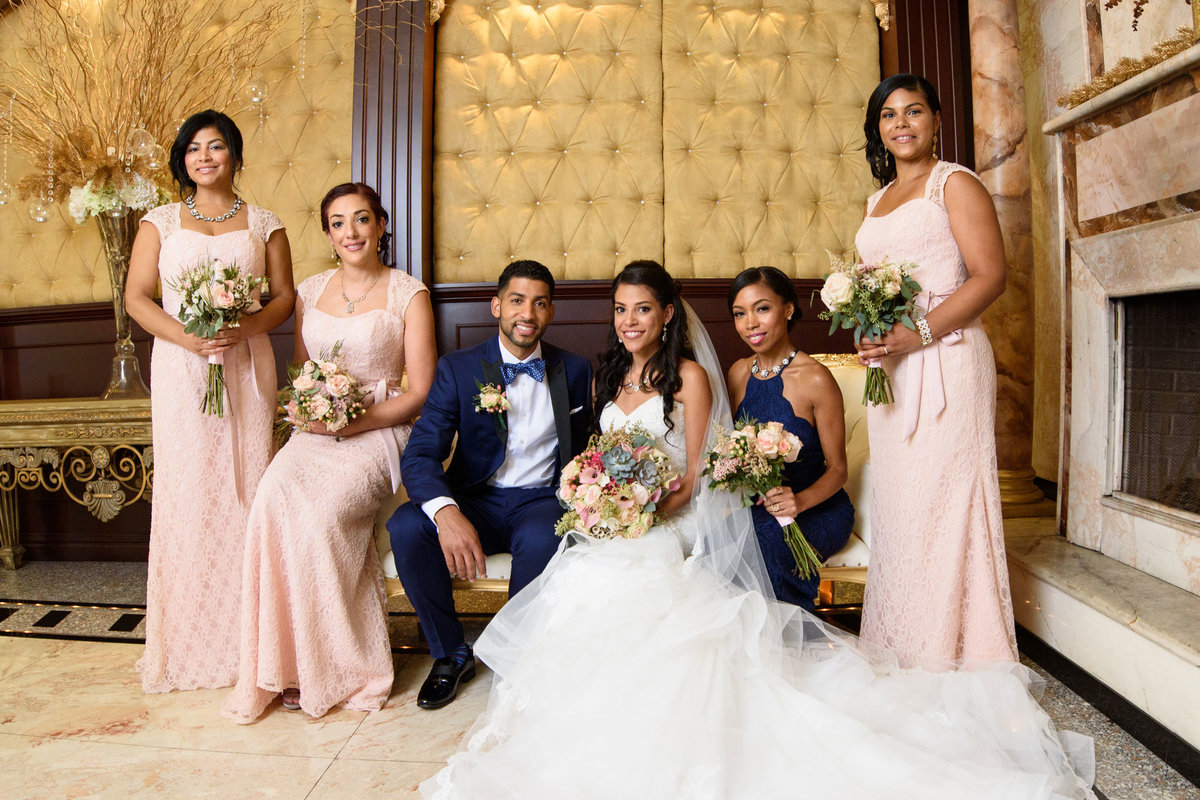 bridal party photo at The Sands