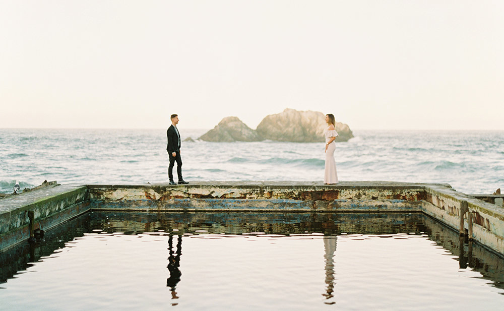 Liz + Wes Land's End Sutro Baths San Francisco Engagement Session 0015
