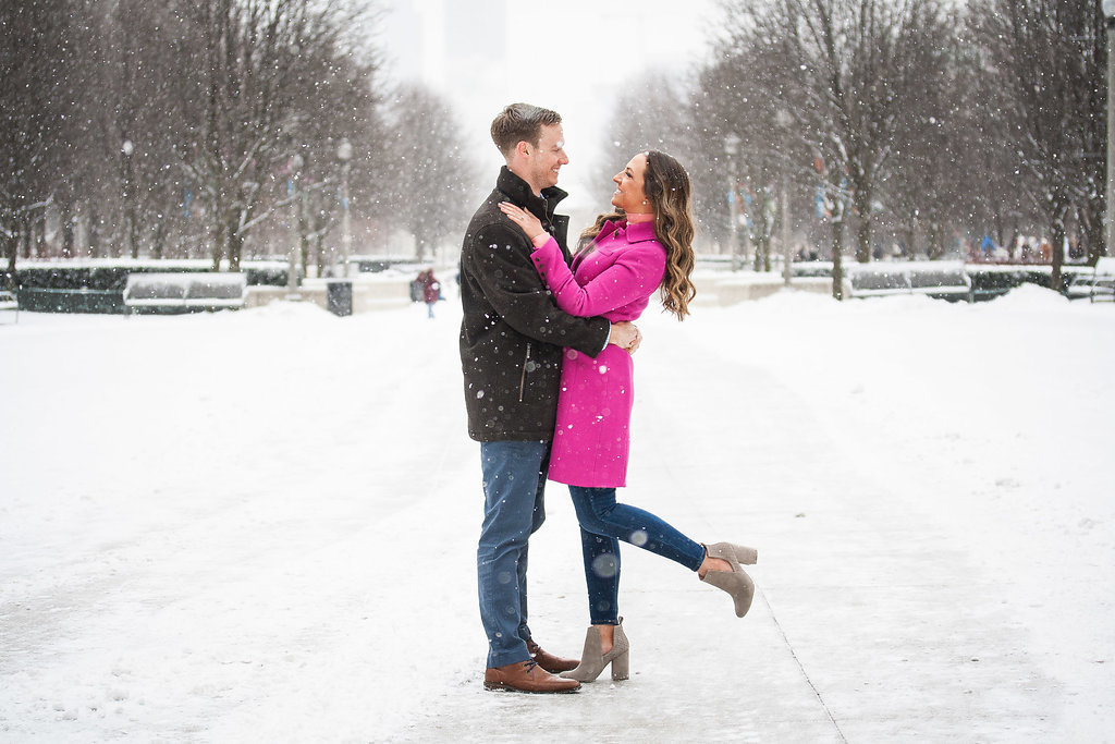 Millennium Park Chicago Illinois Winter Engagement Photographer Taylor Ingles 2