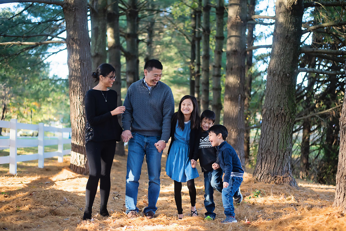 Fun outdoor family portraits at Avenel Local Park in Potomac by Sarah Alice Photography