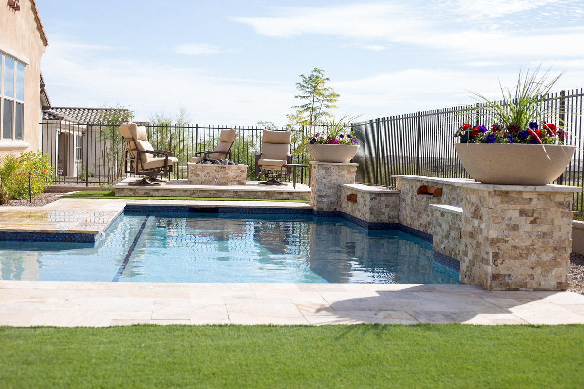 An example of TKS Solutions AZ landscaping project.