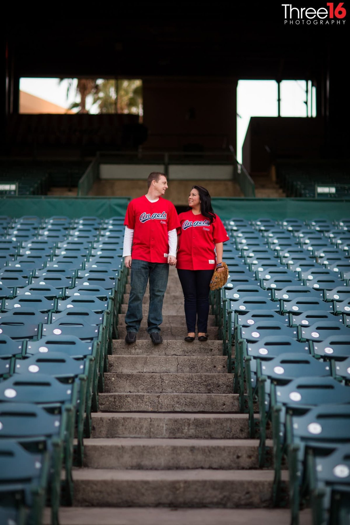Angel Stadium Engagement Photography Orange County