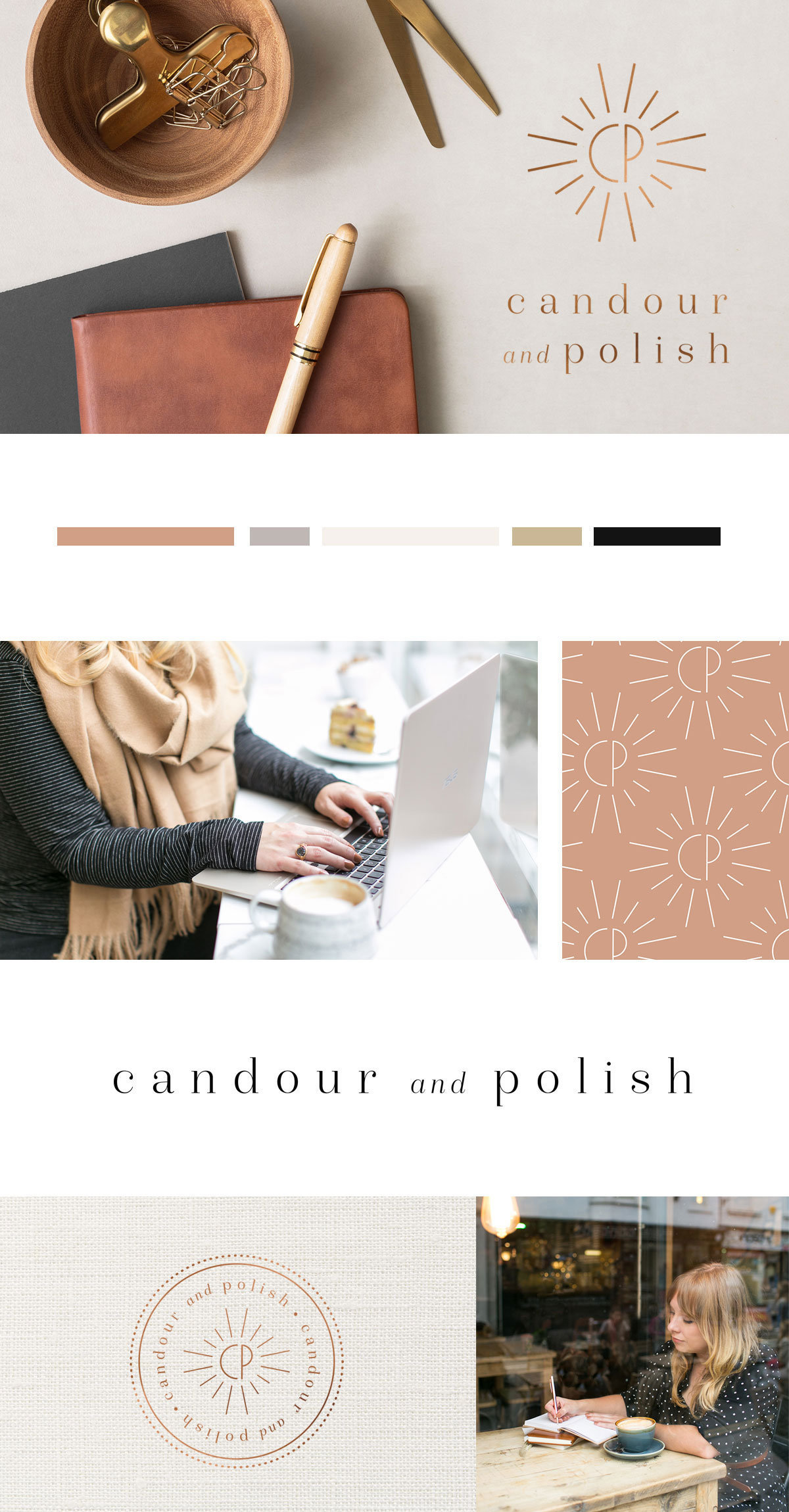 Brand launch | Candour & Polish, copywriting for lifestyle brands and wedding professionals. Wedding business branding, branding for female entrepreneurs, feminine brand design, luxury branding, logo design, mood board, brand board