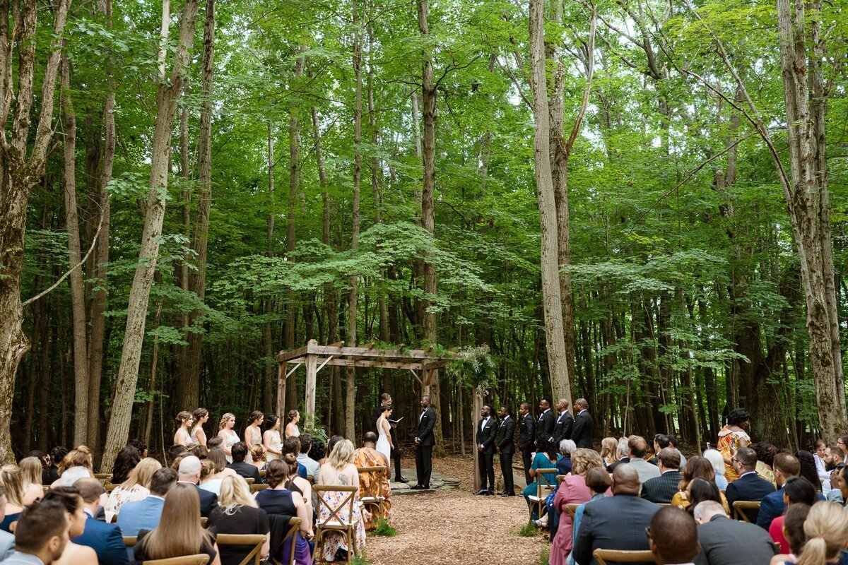 ceremony in the woods catskills wedding planner carey institute wedding canvas weddings