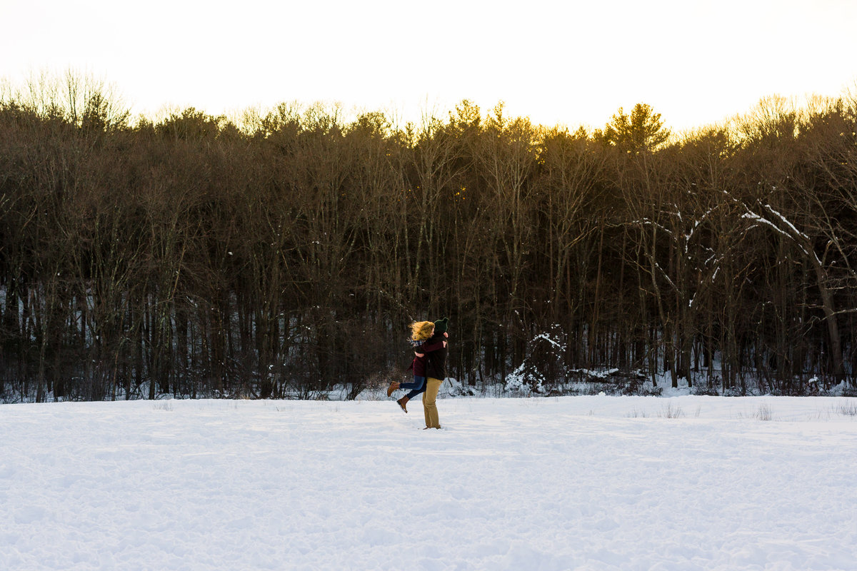 Maine-Wedding-Photographer-Snow-Engagement-Session-Winter-Fells-Reservation