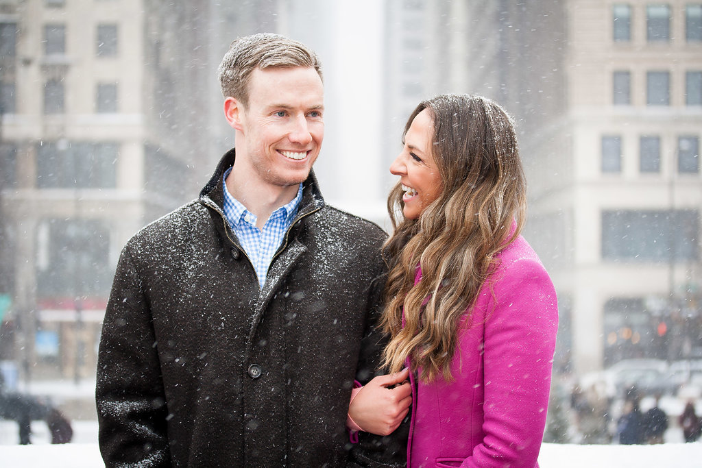 Millennium Park Chicago Illinois Winter Engagement Photographer Taylor Ingles 35