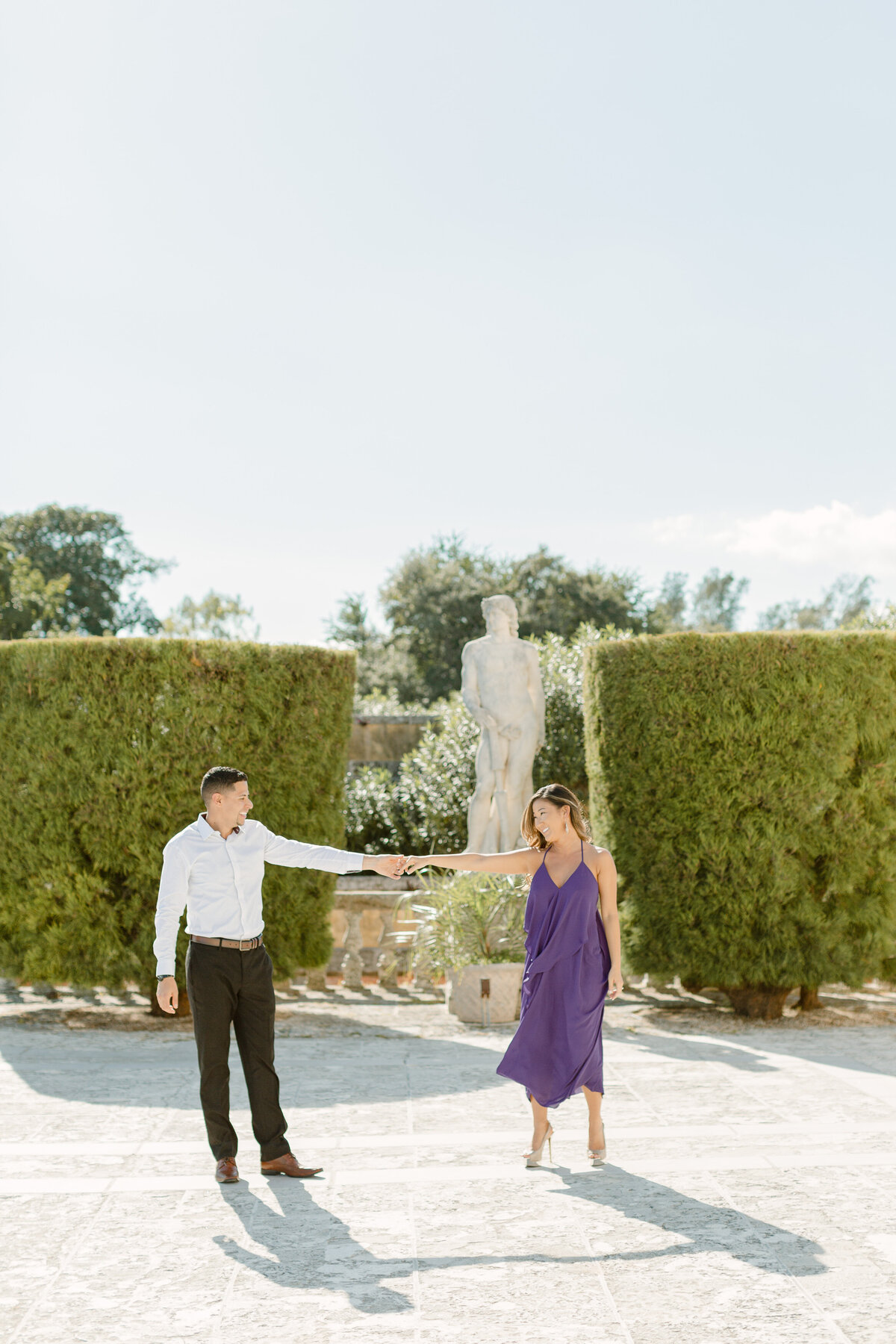 Vizcaya Museum Engagement Photography Session 2