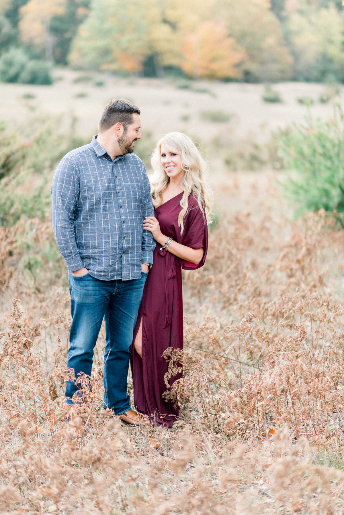 Traverse city Michigan engagement photography