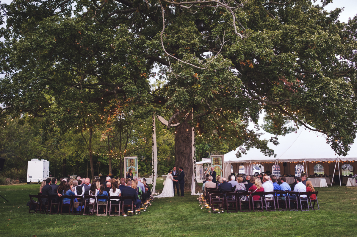 private tent wedding indiana