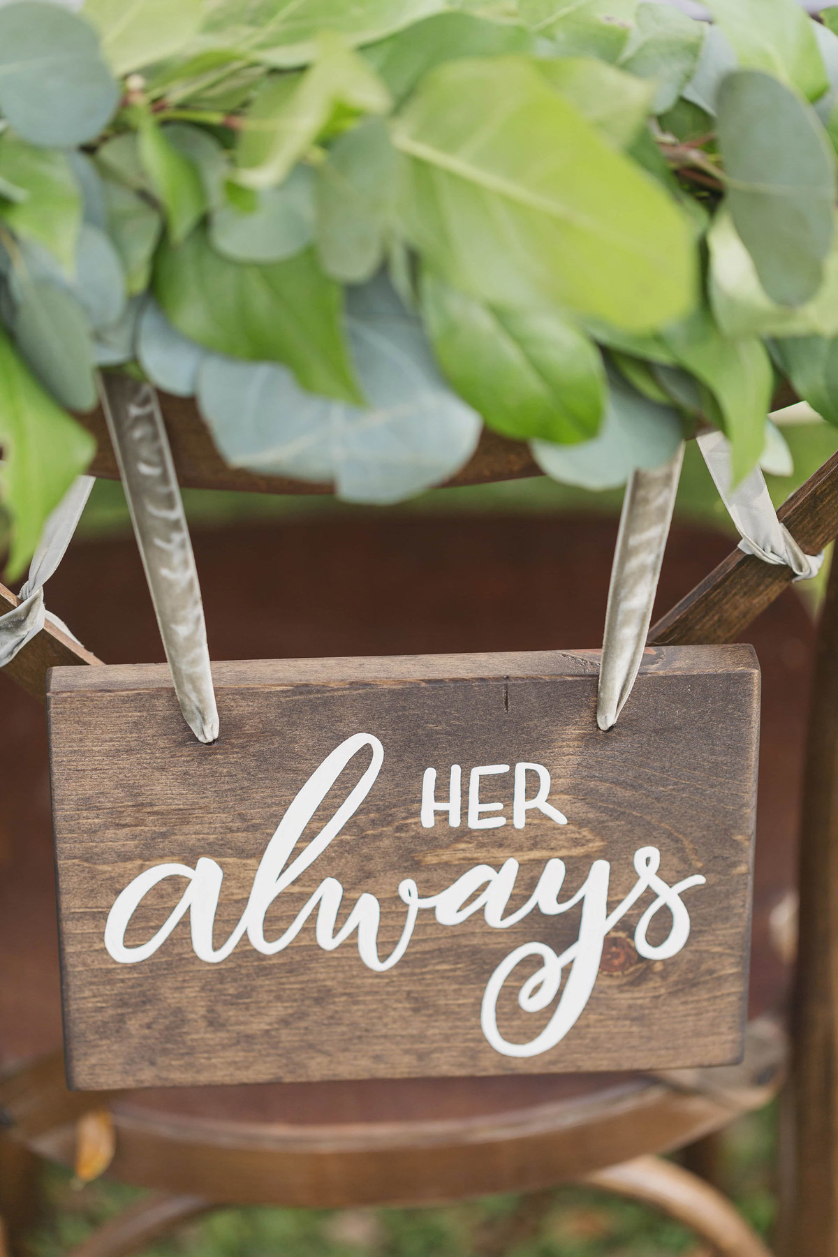 wedding chair sign sigage