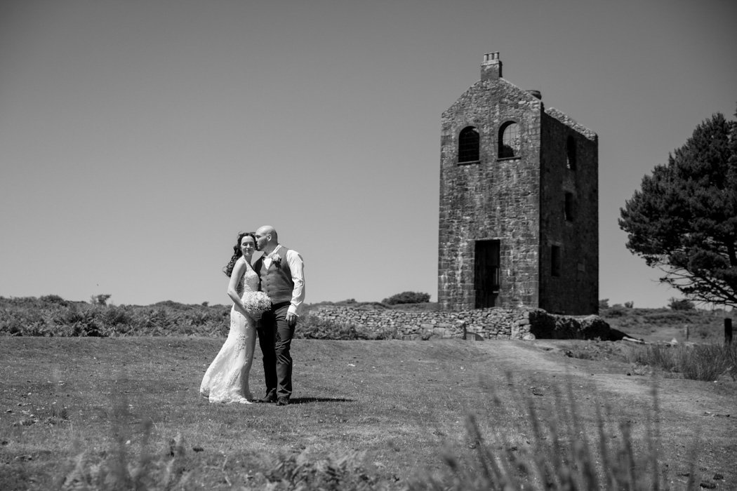 Wedding photo near The Green in Cornwall