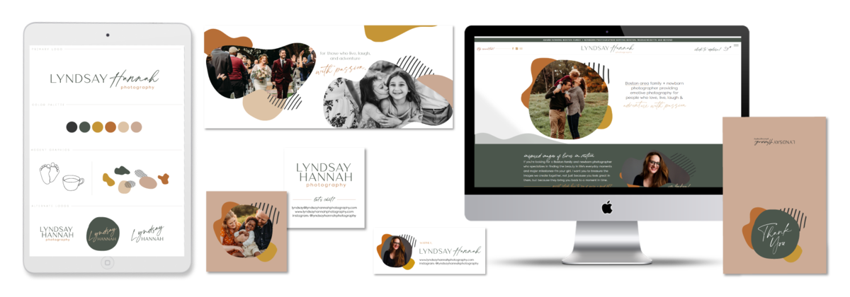 Brand and Showit Website Design for Lyndsay Hannah Photography