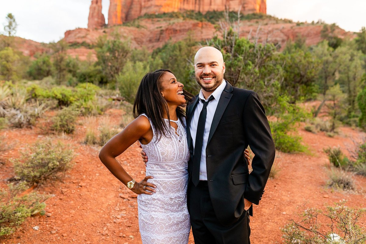 Monica + Austin - Sedona Engagement Session - Cathedral Rock - Lunabear Studios_0207