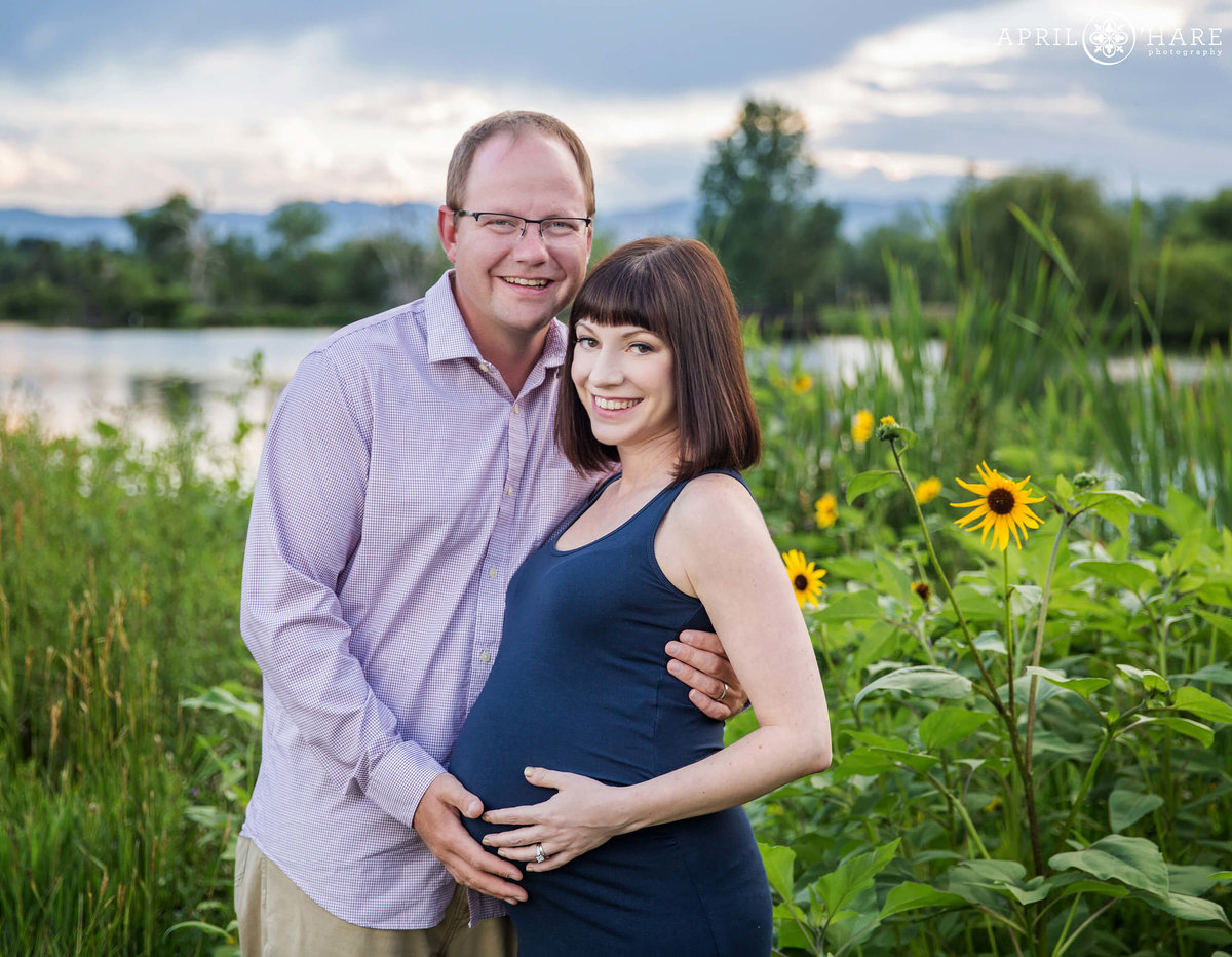 Summer Maternity Photography in Belmar Park Lakewood Colorado
